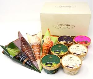 【シャトレーゼ】通販限定 Chateraise PREMIUM バラエティーアイスギフト(メロンソフト入り)